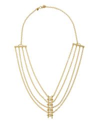 Rebecca Minkoff - Metallic 12k Gold-plated Multi-strand Pearly Bar Necklace - Lyst
