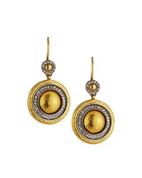 Gurhan - Metallic Moonlight Diamond Halo Dangle Earrings - Lyst