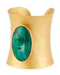 Stephanie Kantis - Green Goddess Malachite Cuff Bracelet - Lyst