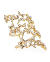 Romeo and Juliet Couture - Metallic Three-row Pavé Star Ring - Lyst