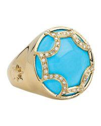 Elizabeth Showers | Blue Maltese Diamond Turquoise Ring | Lyst