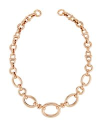 Roberto Coin - Metallic 18k Rose Gold Mixed Link Necklace - Lyst