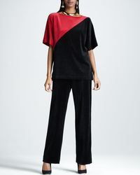 Joan Vass | Black Velour Pants | Lyst