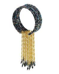 Nakamol - Metallic Chain Tassel Cuff Bracelet - Lyst