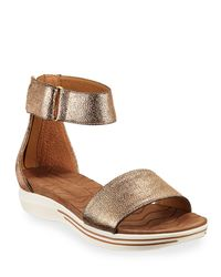 8898f542192a Lyst - Adrienne Vittadini Carlos Metallic Ankle-strap Sandals in ...