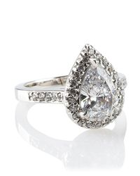 Fantasia by Deserio - Metallic Antique Pear-shaped Ring - Lyst