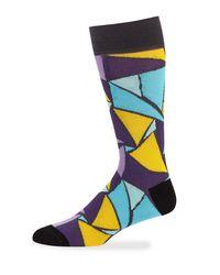 Jared Lang - Purple Men's Triangle Cotton Socks for Men - Lyst