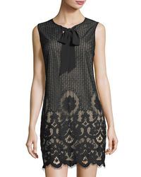 Cece by Cynthia Steffe - Black Rosie Lace Shift Dress - Lyst