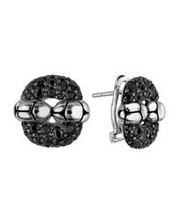 John Hardy | Black Kali Lava Sapphire Rectangle Earrings | Lyst