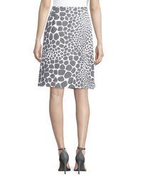 Michael Kors - Multicolor Animal-print Pleated Skirt - Lyst
