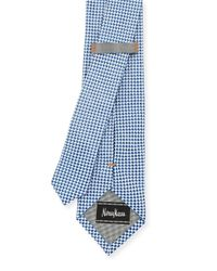 Neiman Marcus - Blue Check Silk Tie for Men - Lyst