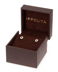 Ippolita - 18k Lollipop Mini Blue Topaz & Diamond Stud Earrings - Lyst