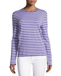 Michael Kors - Purple Long-sleeve Striped Top - Lyst