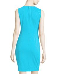 T Tahari - Blue Pria Sleeveless Ponte Dress - Lyst