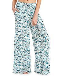 Onia - Blue Chloe Wide-leg Coverup Pants - Lyst