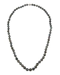 Belpearl | Long 14k Baroque Tahitian Black Pearl Necklace | Lyst