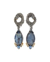 Alexis Bittar | Metallic Elements Gilded Muse D'ore Amazonite & Crystal Earrings | Lyst