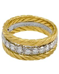 Buccellati | Multicolor Estate 18k Diamond Triple-band Ring | Lyst