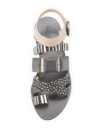Loeffler Randall - Multicolor Sedona Multi-print Calf-hair Sandal - Lyst