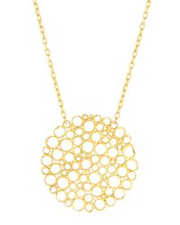 Gurhan | Metallic 24k Gold Lace Pendant Necklace | Lyst