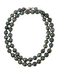 Belpearl | Black Baroque Tahitian Pearl Opera Necklace | Lyst