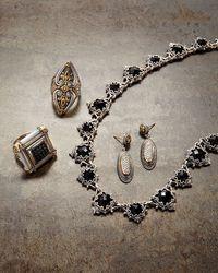 Konstantino - White Maltese Cross & Diamond Oval Double-drop Earrings - Lyst