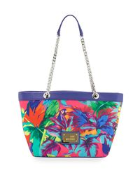 Love Moschino - Blue Jungle Canvas Shoulder Bag - Lyst