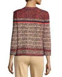 Ming Wang - Red Printed Long-sleeve Jacket - Lyst