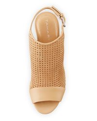 Tahari - Multicolor Eloise Perforated Suede Sandal - Lyst