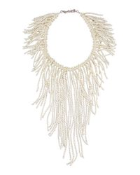 Nakamol - White Pearl Fringe Statement Necklace - Lyst