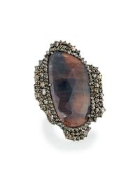 Bavna | Multicolored Sapphire & Diamond Statement Ring | Lyst