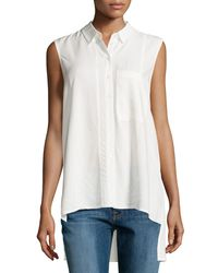 Velvet Heart | White Darby Sleeveless High-low Blouse | Lyst