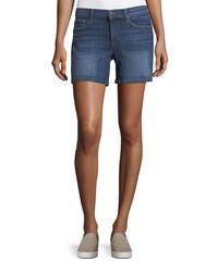 Joe's Jeans - Blue Rolled Slim Denim Shorts - Lyst