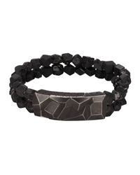 John Hardy - Black Men's Classic Chain Oxidized Station Bracelet W/ Garnet Strap for Men - Lyst