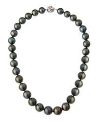Belpearl | Multicolor 14k Graduated Tahitian Pearl Necklace | Lyst