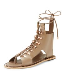Ivy Kirzhner - Multicolor Skylar Studded Leather Lace-up Sandal - Lyst