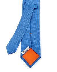 Peter Millar - Blue Dash Textured Silk Tie for Men - Lyst