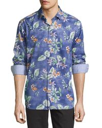 Tommy Bahama | Black Aloha Long-sleeve Woven Shirt for Men | Lyst