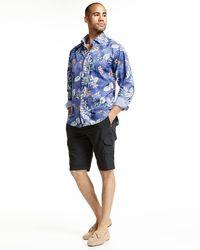 Tommy Bahama - Black Aloha Long-sleeve Woven Shirt for Men - Lyst