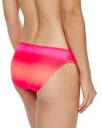 Seafolly - Pink Miami Ruch-side Swim Bottom - Lyst
