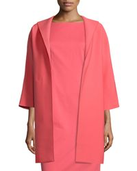 Lafayette 148 New York | Red Mary Long 3/4-sleeve Topper Jacket | Lyst