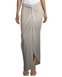 Young Fabulous & Broke | Gray Kulani Knotted Ombre Maxi Skirt | Lyst