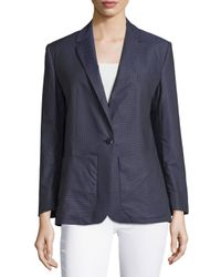 Equipment | Blue School Boy Jay Pin-dot Blazer | Lyst