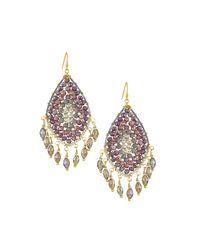 Nakamol - Purple Crystal Teardrop & Shaker Earrings - Lyst