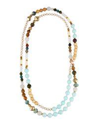 Nakamol - Metallic Long Beaded Rope Necklace - Lyst