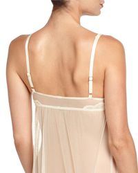 Underella By Ella Moss - Natural Lulu Sheer Lace Chemise - Lyst