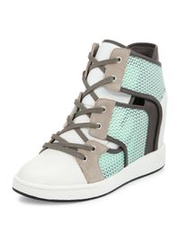 L.A.M.B. - Green Gera Hidden-wedge Sneaker - Lyst