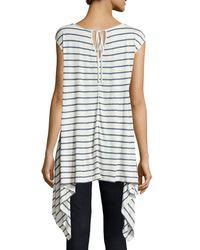 Max Studio - Multicolor Linen-blend Striped Knit Tunic - Lyst