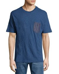 DIESEL | Blue Chambray Patch-pocket Tee for Men | Lyst