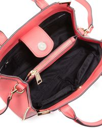 Rebecca Minkoff - Pink Amorous Small Saffiano Satchel Bag - Lyst